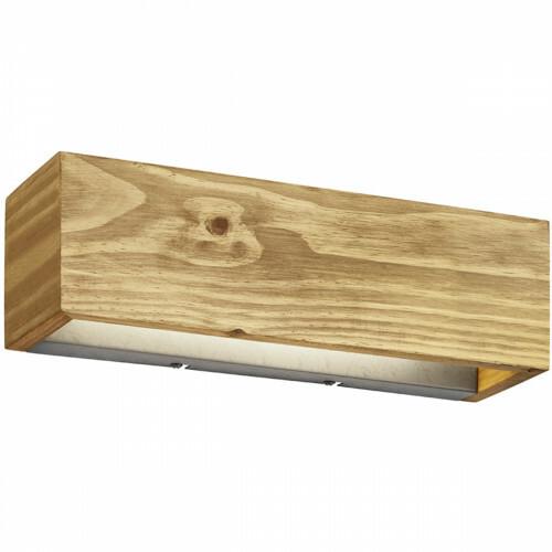 LED Wandlamp - Trion Brida - 13W - Warm Wit 3000K - 1-lichts - Dimbaar - Rechthoek - Mat Bruin - Natuurhout