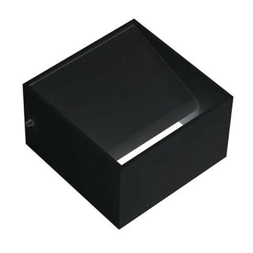 LED Wandlamp - Wandverlichting - 8W - Natuurlijk Wit 4200K - Mat Zwart Aluminium - Vierkant