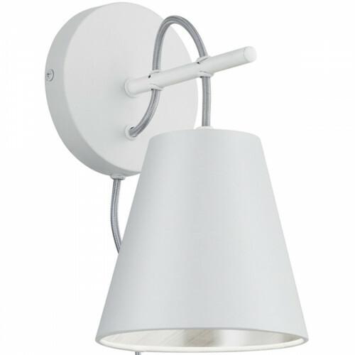LED Wandlamp - Wandverlichting - Trion Andra - E14 Fitting - Rond - Mat Wit - Aluminium
