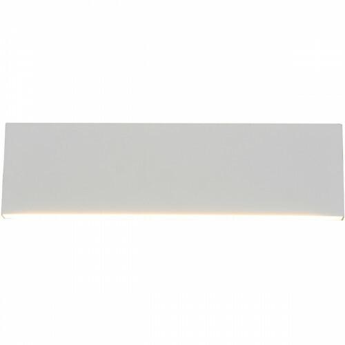 LED Wandlamp - Wandverlichting - Trion Concy - 12W - Warm Wit 3000K - Dimbaar - Rechthoek - Mat Wit - Aluminium
