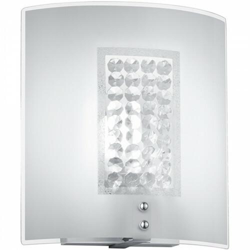 LED Wandlamp - Wandverlichting - Trion Cornio - E14 Fitting - Rechthoek - Mat Chroom - Aluminium