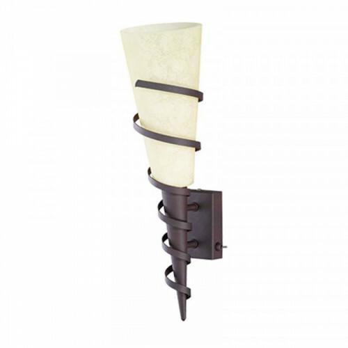LED Wandlamp - Wandverlichting - Trion Kimpa - E14 Fitting - Rond - Roestkleur - Aluminium