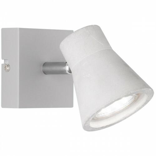 LED Wandspot - Trion Antyna - GU10 Fitting - 3W - Warm Wit 3000K - Rond - Beton Look - Aluminium