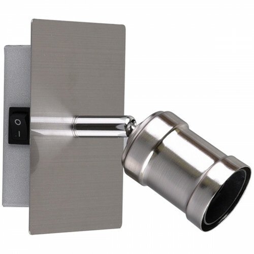LED Wandspot - Trion Korli - E27 Fitting - 1-lichts - Rond - Mat Nikkel – Aluminium