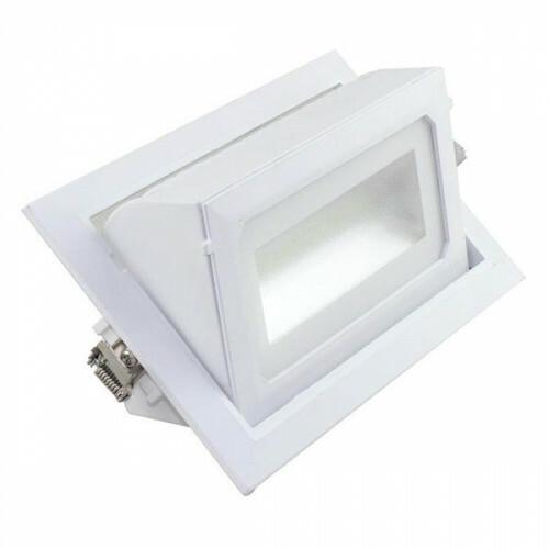 OSRAM - LED Downlight - Inbouw Rechthoek 40W - Aanpasbare Kleur CCT - Mat Wit Aluminium - Kantelbaar 230x140mm