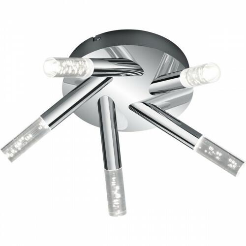 OSRAM - LED Plafondlamp - Trion Balo - 15W - Warm Wit 3000K - 5-lichts - Rond - Glans Chroom - Aluminium