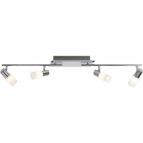 OSRAM - LED Plafondspot - Trion Clupo - 16W - Warm Wit 3000K - 4-lichts - Rechthoek - Mat Chroom - Aluminium
