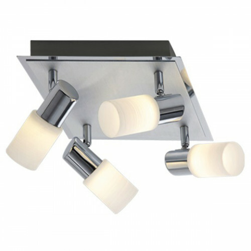 OSRAM - LED Plafondspot - Trion Clupo - 16W - Warm Wit 3000K - 4-lichts - Vierkant - Mat Chroom - Aluminium