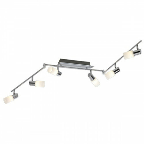 OSRAM - LED Plafondspot - Trion Clupo - 24W - Warm Wit 3000K - 6-lichts - Rechthoek - Mat Chroom - Aluminium