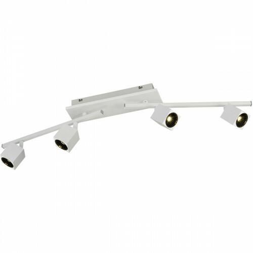OSRAM - LED Plafondspot - Trion Klipo - 24W - Warm Wit 3000K - 4-lichts - Rechthoek - Mat Wit - Aluminium