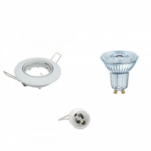 OSRAM - LED Spot Set - Parathom PAR16 940 36D - GU10 Fitting - Dimbaar - Inbouw Rond - Glans Wit - 3.7W - Natuurlijk Wit 4000K - Kantelbaar Ø82mm