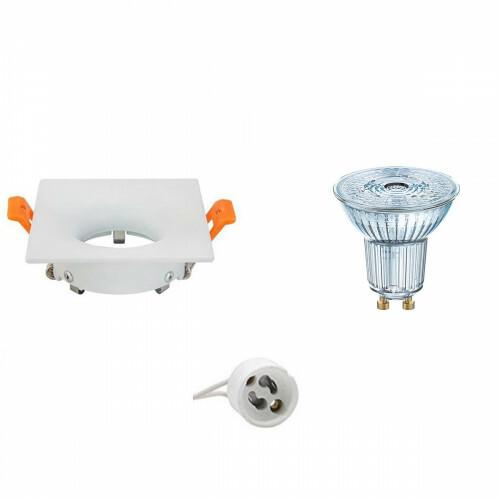 OSRAM - LED Spot Set - Parathom PAR16 940 36D - GU10 Fitting - Dimbaar - Inbouw Vierkant - Mat Wit - 3.7W - Natuurlijk Wit 4000K - 85mm