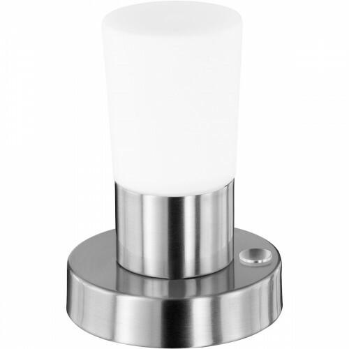 OSRAM - LED Tafellamp - Trion Crostila - 4W - Warm Wit 3000K - Rond - Mat Nikkel - Aluminium
