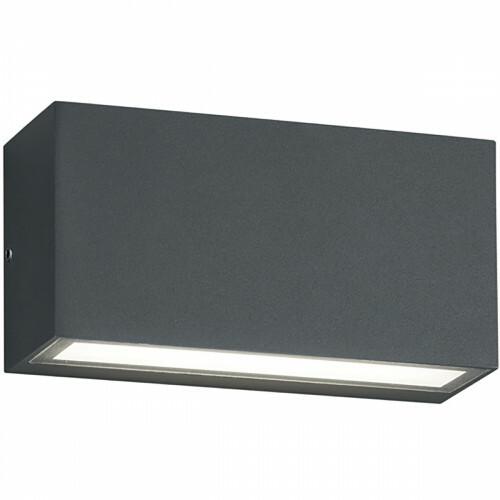 OSRAM - LED Tuinverlichting - Tuinlamp - Trion Tront - Wand - 10W - Mat Zwart - Aluminium