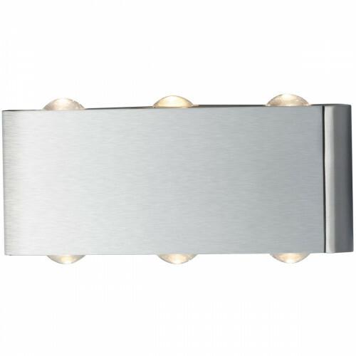 OSRAM - LED Wandlamp - Trion Abironidan - 6W - Warm Wit 3000K - 6-lichts - Rechthoek - Mat Nikkel - Aluminium