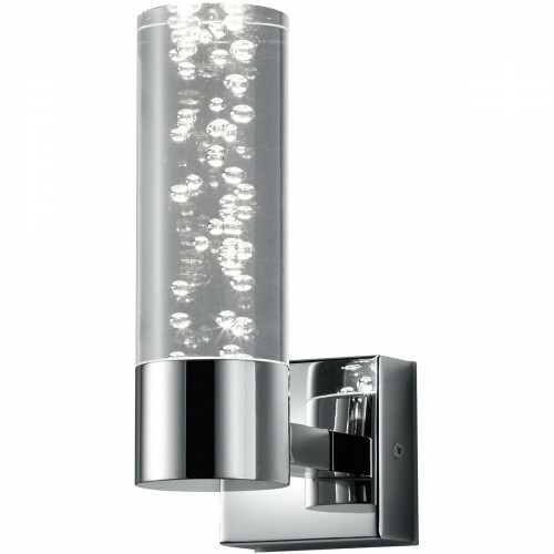 OSRAM - LED Wandlamp - Trion Balo - 1-lichts - 3W - Warm Wit 3000K - Rond - Glans Chroom - Aluminium