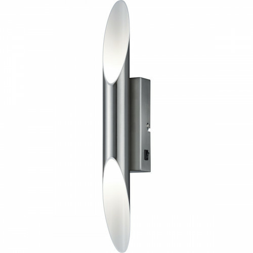 OSRAM - LED Wandlamp - Trion Bolduro - 6W - Warm Wit 3000K - Rond - Mat Nikkel - Aluminium
