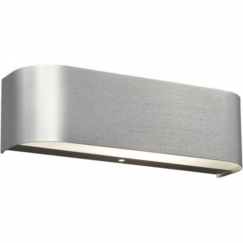 OSRAM - LED Wandlamp - Trion Rianoda - 6W - Warm Wit 3000K - Rechthoek - Mat Grijs - Aluminium