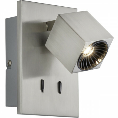 OSRAM - LED Wandspot - Trion Klipo - 7W - Warm Wit 3000K - Rechthoek - Mat Nikkel - Aluminium