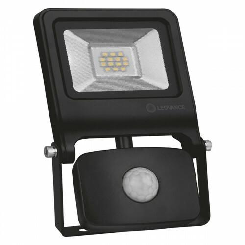 OSRAM - LEDVANCE - LED Breedstraler 10 Watt met sensor - LED Schijnwerper - Natuurlijk Wit 4000K - Spatwaterdicht IP44