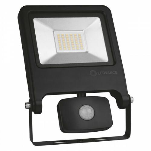 OSRAM - LEDVANCE - LED Breedstraler 30 Watt met sensor - LED Schijnwerper - Natuurlijk Wit 4000K - Spatwaterdicht IP44