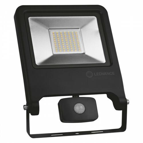 OSRAM - LEDVANCE - LED Breedstraler 50 Watt met sensor - LED Schijnwerper - Natuurlijk Wit 4000K - Spatwaterdicht IP44