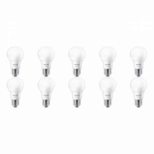 PHILIPS - LED Lamp 10 Pack - SceneSwitch 827 A60 - E27 Fitting - Dimbaar - 2W-8W - Warm Wit 2200K-2700K | Vervangt 60W