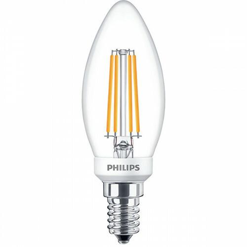 PHILIPS - LED Lamp Filament - Classic LEDCandle 827 B35 CL - E14 Fitting - Dimbaar - 5W - Warm Wit 2700K | Vervangt 40W