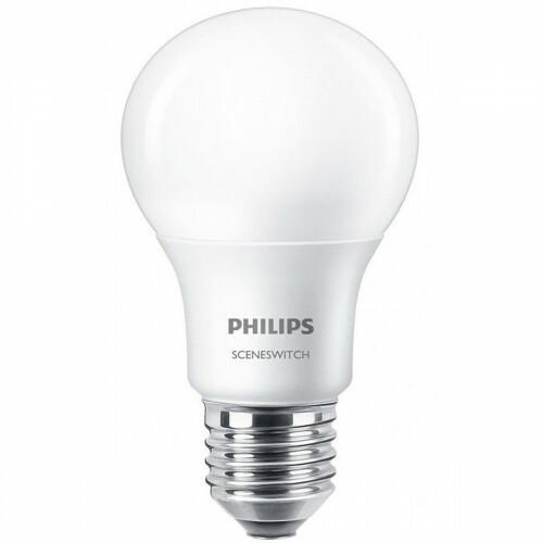 PHILIPS - LED Lamp - SceneSwitch 827 A60 - E27 Fitting - Dimbaar - 1.6W-7.5W - Warm Wit 2200K-2700K | Vervangt 16W-60W