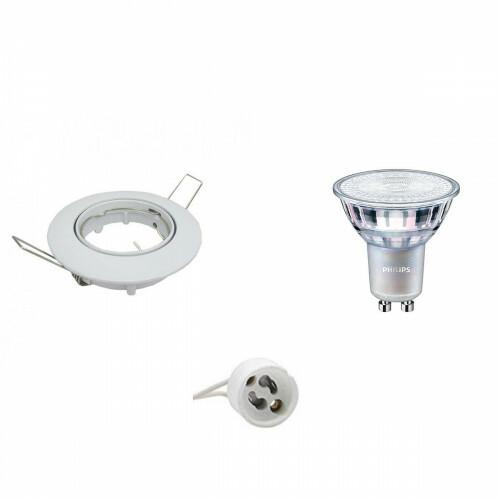 PHILIPS - LED Spot Set - MASTER 927 36D VLE - GU10 Fitting - DimTone Dimbaar - Inbouw Rond - Glans Wit - 3.7W - Warm Wit 2200K-2700K - Kantelbaar Ø82mm