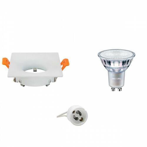 PHILIPS - LED Spot Set - MASTER 927 36D VLE - GU10 Fitting - DimTone Dimbaar - Inbouw Vierkant - Mat Wit - 3.7W - Warm Wit 2200K-2700K - 85mm