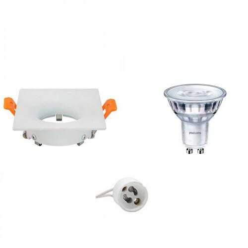 PHILIPS - LED Spot Set - SceneSwitch 827 36D - GU10 Fitting - Dimbaar - Inbouw Vierkant - Mat Wit - 1.5W-5W - Warm Wit 2200K-2700K - 85mm