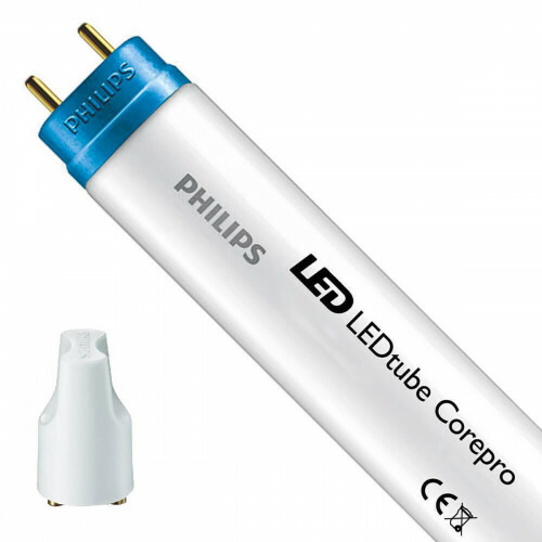 PHILIPS - LED TL Buis T8 met Starter - CorePro LEDtube EM 865 - 60cm - 8W - Helder/Koud Wit 6500K | Vervangt 18W
