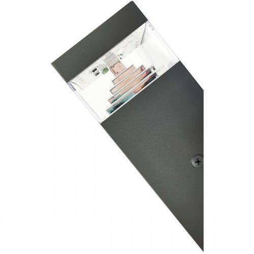 SAMSUNG - LED Tuinverlichting - Tuinlamp - Facto - Wand - 8W - Natuurlijk Wit 4000K - Mat Zwart - Aluminium