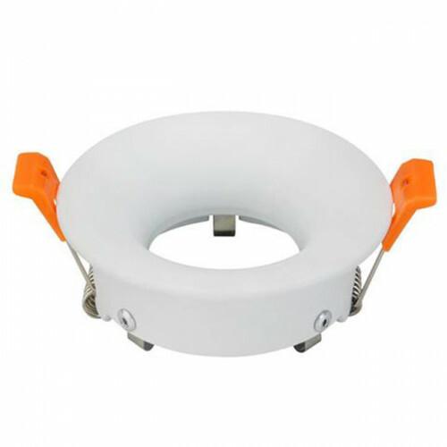 Spot Armatuur GU10 - Inbouw Rond - Mat Wit Aluminium - Ø85mm