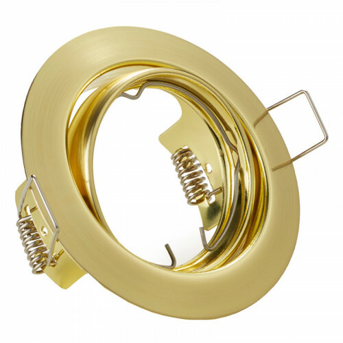 Spot Armatuur GU10 - Trion - Inbouw Rond - Mat Goud Aluminium - Kantelbaar Ø83mm