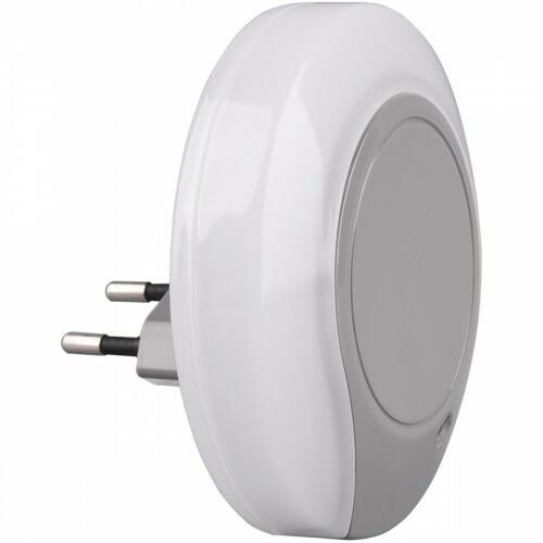 Stekkerlamp Lamp - Stekkerspot - Trion Jiko - 0.4W - Warm Wit 3000K - Rond - Mat Grijs - Kunststof