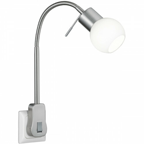 Stekkerlamp Lamp - Trion Frido - G9 Fitting - 3W - Warm Wit 3000K - Dimbaar - Mat Nikkel - Aluminium