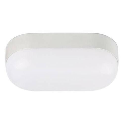 LED Tuinverlichting - Buitenlamp - Stella 8 - Wand - Kunststof Mat Wit - 8W Natuurlijk Wit 4200K - Ovaal