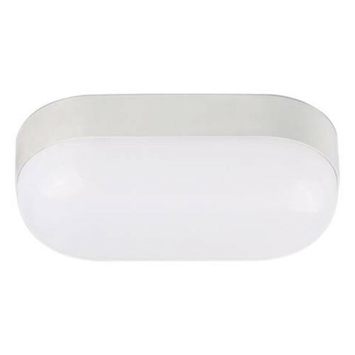LED Tuinverlichting - Buitenlamp - Stella 15 - Wand - Kunststof Mat Wit - 15W Natuurlijk Wit 4200K - Ovaal