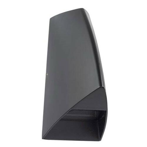 LED Tuinverlichting - Buitenlamp - Ego - Wand - Aluminium Mat Zwart - 3.5W Natuurlijk Wit 4100K - Ovaal