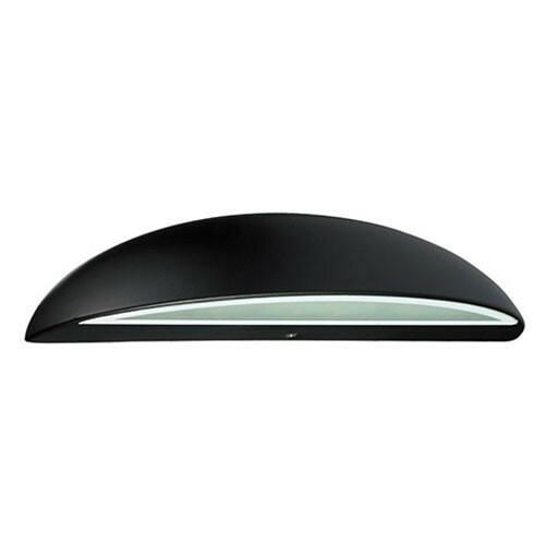 LED Tuinverlichting - Buitenlamp - Assato - Wand - Aluminium Mat Zwart - 3W Natuurlijk Wit 4100K - Ovaal