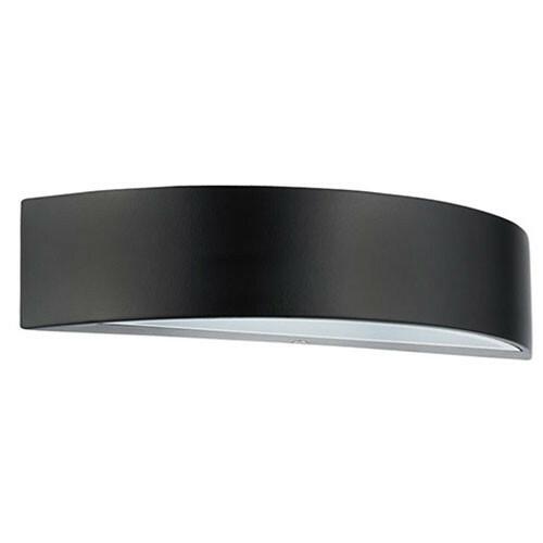 LED Tuinverlichting - Buitenlamp - Mesa - Wand - Aluminium Mat Zwart - 5.5W Natuurlijk Wit 4100K - Ovaal