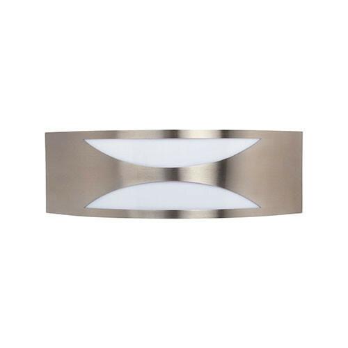LED Tuinverlichting - Buitenlamp - Manipu 3 - Wand - RVS - E27 - Vierkant