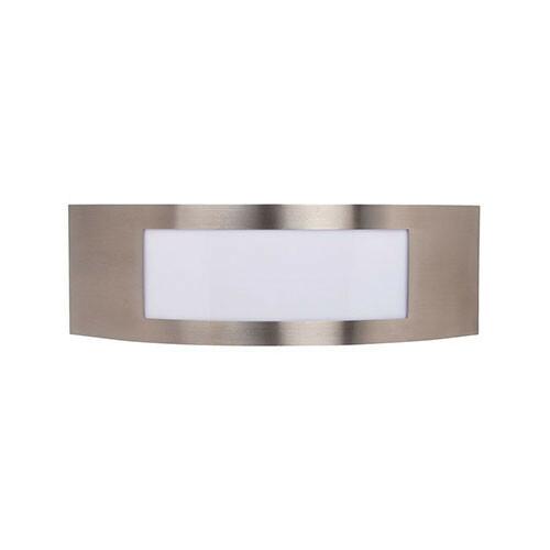 LED Tuinverlichting - Buitenlamp - Manipu 1 - Wand - RVS - E27 - Vierkant