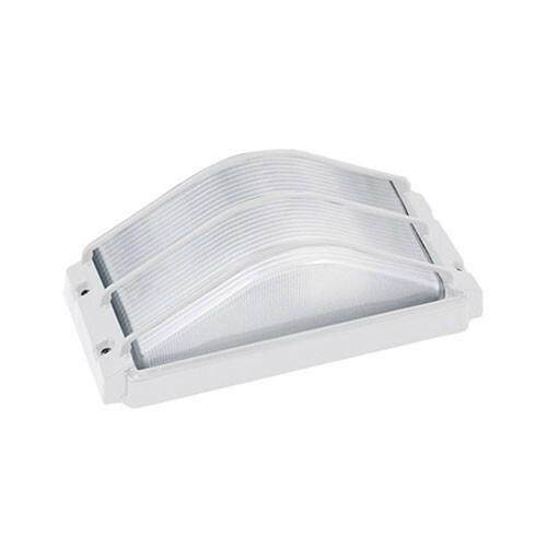 LED Tuinverlichting - Buitenlamp - Ovalis - Wand - Aluminium Mat Wit - E27 - Rechthoek