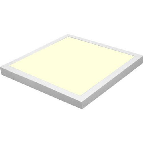 LED Paneel - 40x40 Warm Wit 3000K - 32W Opbouw Vierkant - Mat Wit Aluminium