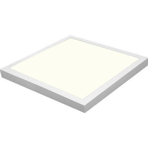 LED Paneel - 50x50 Natuurlijk Wit 4200K - 40W Opbouw Vierkant - Mat Wit Aluminium