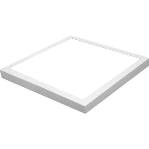 LED Paneel - 50x50 Helder/Koud Wit 6000K - 40W Opbouw Vierkant - Mat Wit Aluminium