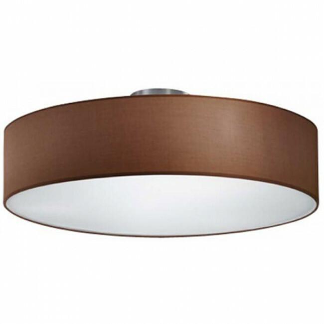 LED Plafondlamp Plafondverlichting Trion Hotia E27 Fitting 3 lichts Rond Mat Bruin Aluminium